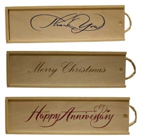 wood gift box with almonds